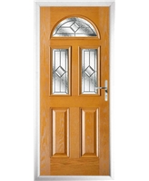 The Glasgow Composite Door in Oak with Simplicity