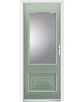 Ultimate Portland Rockdoor in Chartwell Green with Glazing