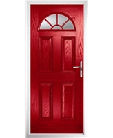 The Jamestown Composite Door in Red with Clear Glazing