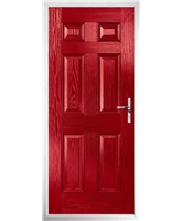 The Hull Composite Door in Red
