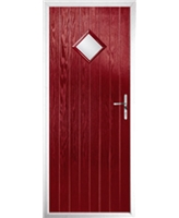 The Reading Composite Door in Red with Clear Glazing