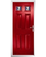 The Ipswich Composite Door in Red with Blue Crystal Harmony