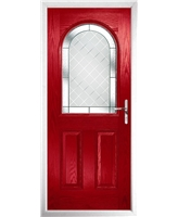 The Edinburgh Composite Door in Red with Diamond Cut