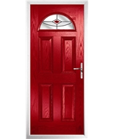 The Derby Composite Door in Red with Red Fusion Ellipse