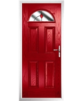 The Derby Composite Door in Red with Red Diamonds