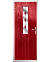 The Sheffield Composite Door in Red with Red Diamonds