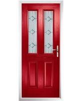 The Cardiff Composite Door in Red with Simplicity