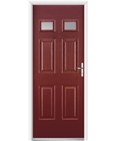 Ultimate Regency Rockdoor in Ruby Red with Clear Glazing