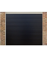 Roller Shutter Garage Door in Black