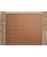 Roller Shutter Garage Door in Golden Oak with a textured Woodgrain finish
