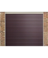 Roller Shutter Garage Door in Painted Rosewood