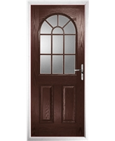 The Leeds Composite Door in Rosewood with Glazing