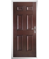 The Hull Composite Door in Rosewood