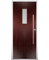 The Zetland Composite Door in Rosewood with Clear Glazing