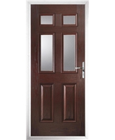 The Oxford Composite Door in Rosewood with Clear Glazing