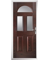 The Glasgow Composite Door in Rosewood with Clear Glazing