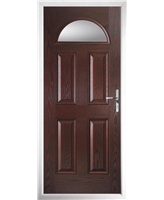 The Derby Composite Door in Rosewood with Clear Glazing