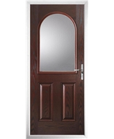 The Edinburgh Composite Door in Rosewood with Glazing