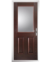 The Farnborough Composite Door in Rosewood with Clear Glazing