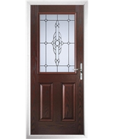 The Farnborough Composite Door in Rosewood with Crystal Bohemia Frost