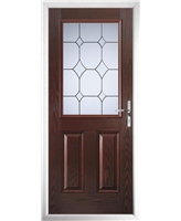 The Farnborough Composite Door in Rosewood with Crystal Diamond