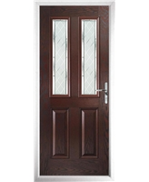 The Cardiff Composite Door in Rosewood with Diamond Cut