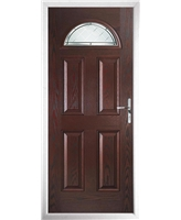 The Derby Composite Door in Rosewood with Diamond Cut