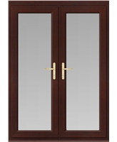 uPVC French Door in Rosewood