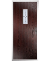 The Taunton Composite Door in Rosewood with Flair Glazing