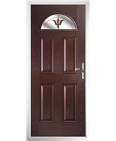 The Derby Composite Door in Rosewood with Fleur