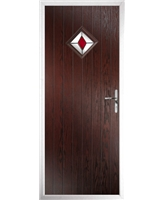 The Reading Composite Door in Rosewood with Red Diamond