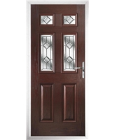 The Oxford Composite Door in Rosewood with Simplicity