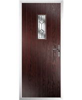 The Taunton Composite Door in Rosewood with Simplicity