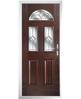 The Glasgow Composite Door in Rosewood with Simplicity