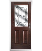 The Farnborough Composite Door in Rosewood with Simplicity