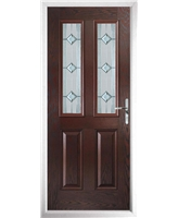 The Cardiff Composite Door in Rosewood with Simplicity