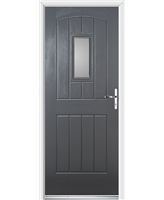 Ultimate English Cottage Rockdoor in Slate Grey with Glazing