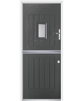 Ultimate Stable Spy Rockdoor in Slate Grey with Glazing