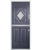 Ultimate Stable Diamond Rockdoor in Anthracite Grey with Glazing