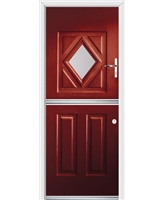 Ultimate Stable Diamond Rockdoor in Ruby Red with Clear Glazing