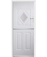 Ultimate Stable Diamond Rockdoor in White with Clear Glazing