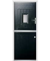 Ultimate Stable Spy Rockdoor in Onyx with Clear Glazing