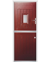 Ultimate Stable Spy Rockdoor in Ruby Red with Clear Glazing