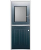 Ultimate Stable View Rockdoor in Anthracite Grey with Clear Glazing