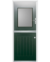 Ultimate Stable View Rockdoor in Emerald Green with Clear Glazing