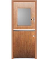 Ultimate Stable View Rockdoor in Light Oak with Clear Glazing