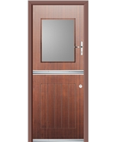 Ultimate Stable View Rockdoor in Mahogany with Clear Glazing