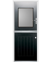 Ultimate Stable View Rockdoor in Onyx Black with Clear Glazing
