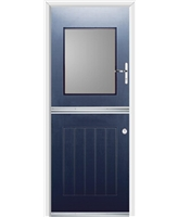 Ultimate Stable View Rockdoor in Sapphire Blue with Clear Glazing