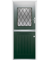 Ultimate Stable View Rockdoor in Emerald Green with Diamond Lead